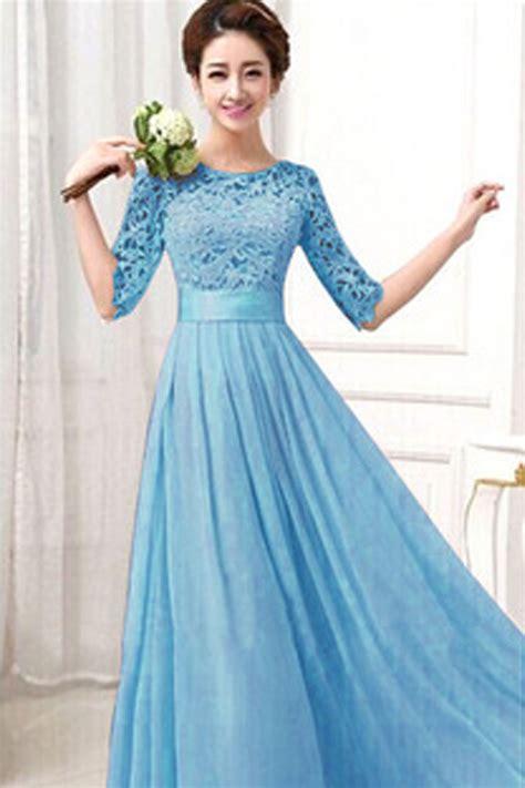 Dress Blue kettymore winter dresses lace designed