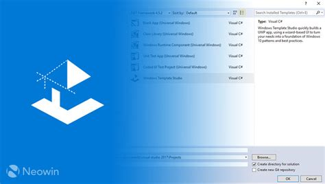studio templates microsoft выпустила windows template studio 1 1