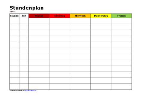 Vorlage Word Wochenplan Stundenplan Zum Audrucken Kostenlose Vorlage Und Muster