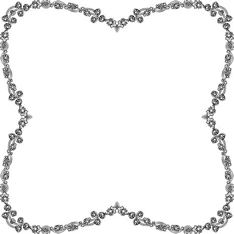 Decorative Frames Clipart Victorian Style Frame 3