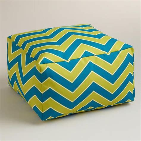 cool chevron outdoor ottoman at cost plus world market