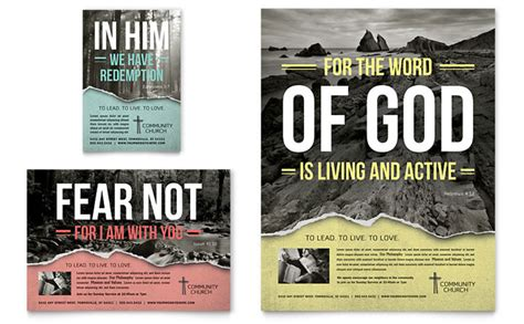 religious flyer templates bible church flyer ad template design