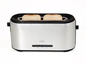 Slimline Toasters Two Slice Inventum Deluxe Brushed Aluminium Slim Design Two Slice