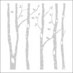 Deer Wall Mural birch trees clipart clipground