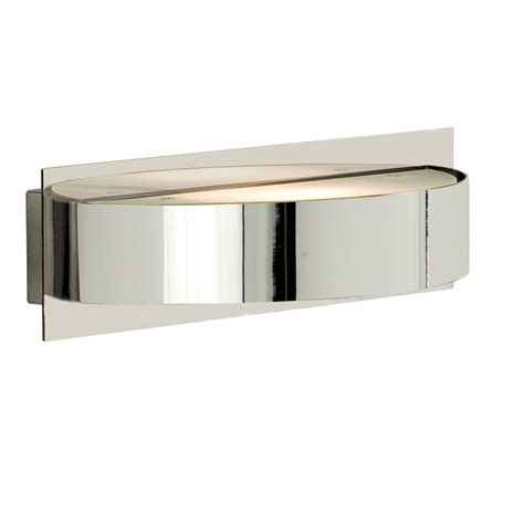 outdoor light back plate chrome half circle wall light with oblong back plate