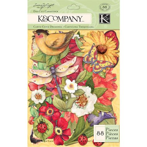 die kitchen collection llc k company susan winget collection die cut cardstock meadow
