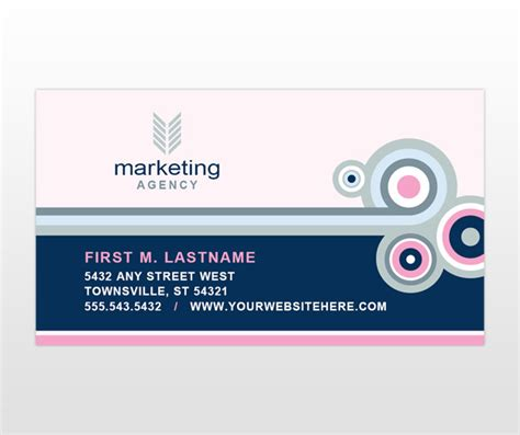 business card advertisement template marketing agency business card template