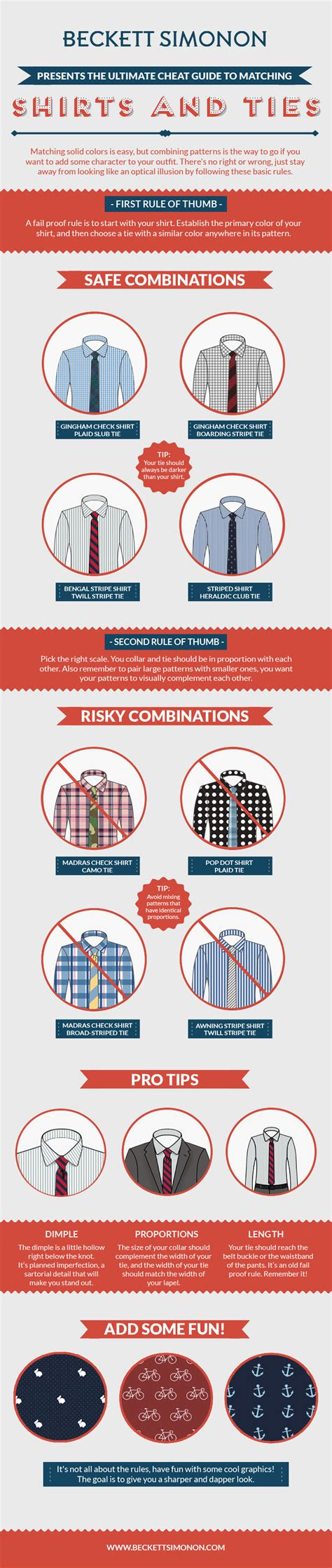 Tie Shirt Pattern Rules | this cheat sheet teaches you how to match shirt and tie
