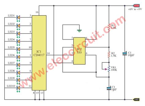 layout running led 20 led led chaser circuit with pcb layout eleccircuit com