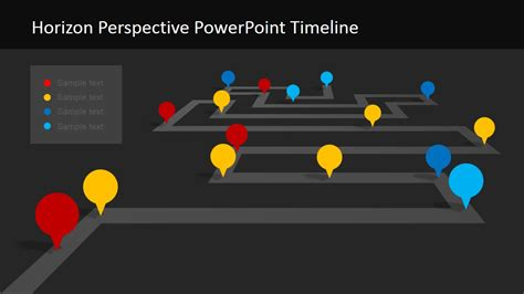 horizon powerpoint themes dark background project milestone slide slidemodel