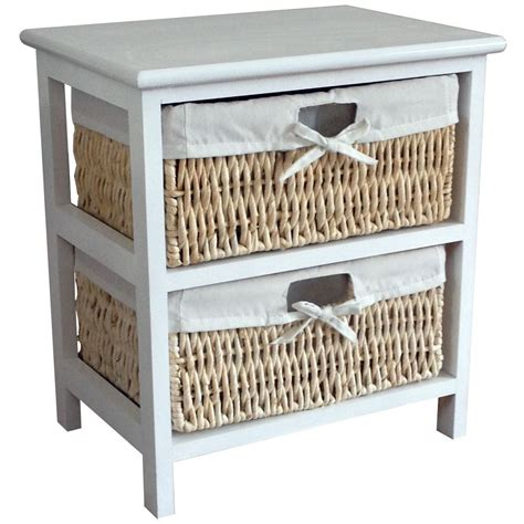 Drawer Basket Storage by Maize Storage Unit 2 3 4 Basket Drawer White Wood