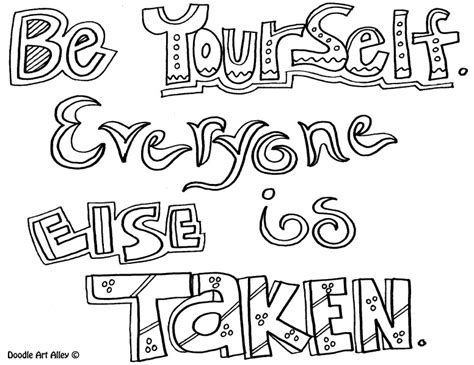 printable page of quotes quote coloring page be yourself thirdgradetroop com