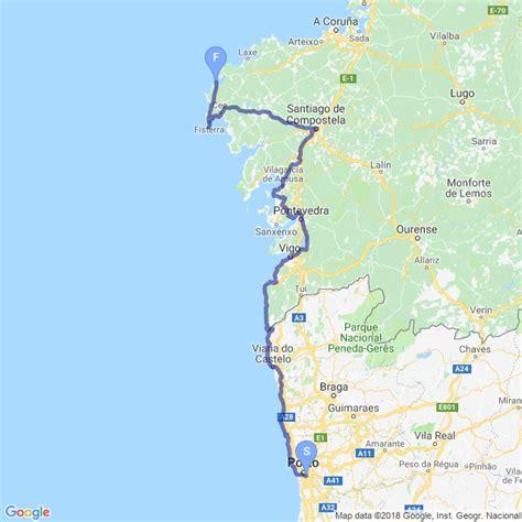 camino way map portugal camino coastal camino portugu 233 s caminho