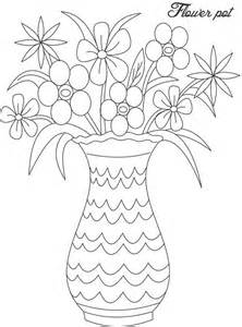 coloring pages of flowers in vases gallery