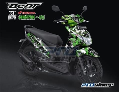 Modif Stiker Honda Beat Fi Click Green stiker motor honda beat fi warna hijau modif prostiker