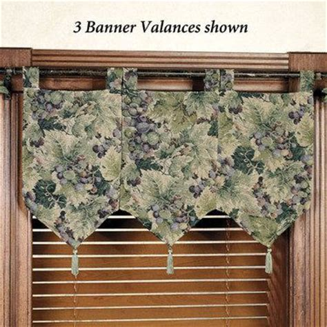 banner curtains labrusca grapes banner valances a window fashion b