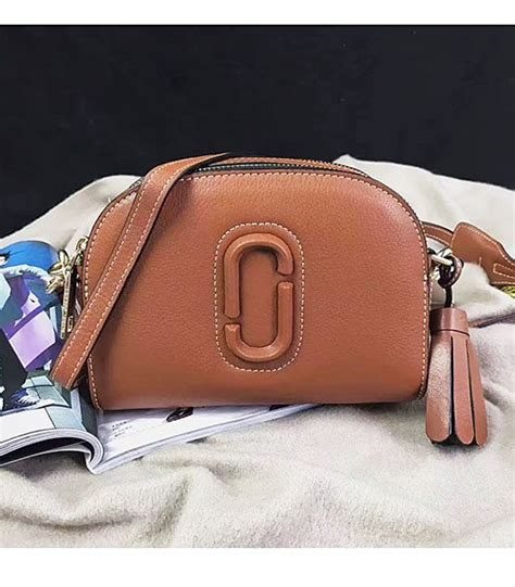 Shutter Mj Bag Marc Leather Sling Bag replica marc shutter brown leather tassel small