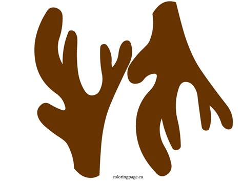 rudolph antlers template reindeer antlers template invitation template