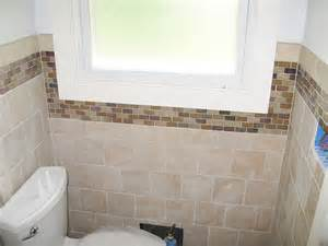 Glass Tile Accent Wall Bathroom Bath Remodeling Photos Wayne Nj