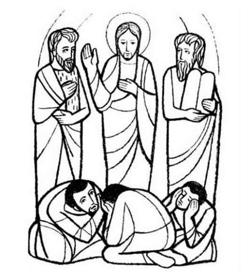 transfiguration free colouring pages