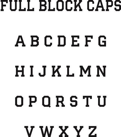 block lettering font block font