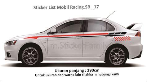 Stiker Mobil List Trd Sportivo Toyota Minimalis Sticker Sing harga sticker cutting list mobil side stripe sb 010