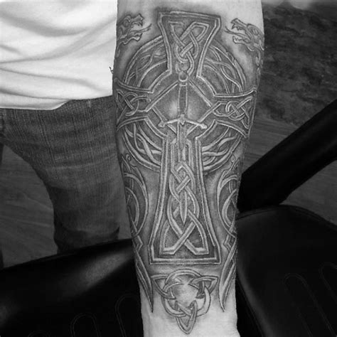 celtic cross tattoo arm celtic sleeve designs ideas and meaning tattoos