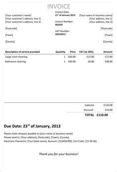 employed invoice template uk invoice