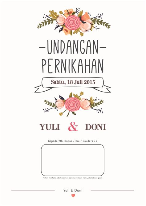 Background Undangan Pernikahan Simple by Membuat Desain Undangan Pernikahan Ardiyansyah