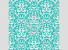 Damask Pattern In White On Turquoise Stock Image - Image ... Vintage Christmas Wrapping Paper