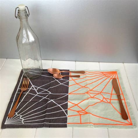 Posh Totty Design Interiors by Grey And Neon Decorative Placemat By Posh Totty Designs
