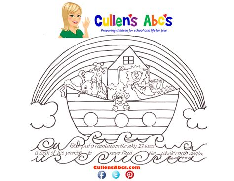 Galerry preschool coloring page of noah s ark