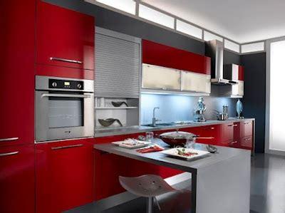 cocina peque 241 a decorada en rojo cocinas modernas de color rojo con isla americanas con