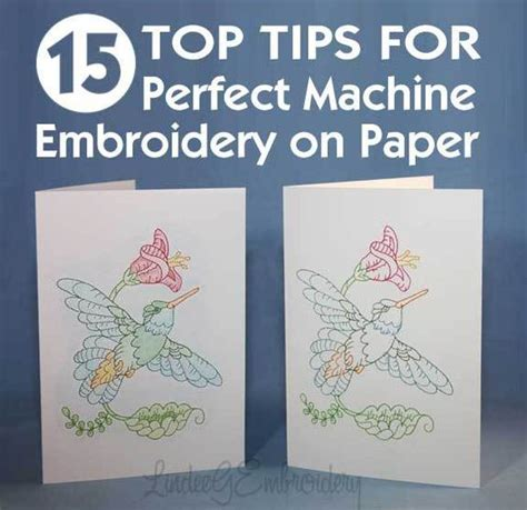 greeting card machine stitching embroidery and paper on