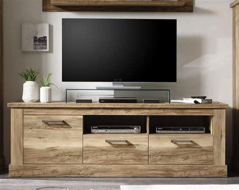 Meuble banc TV bois clair moderne ZOVINA