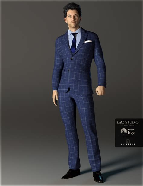 Suit 3 In 1 3 h c business suit a for genesis 3 s 3d models and