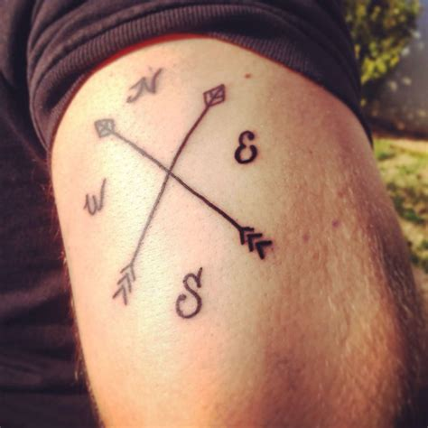 arrow tattoos tumblr arrow compass