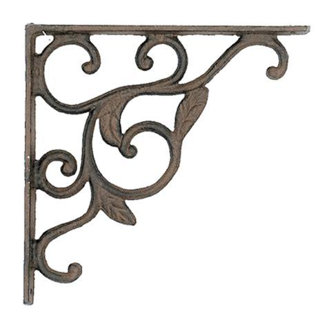 Decorative Wrought Iron Shelf Brackets by Deck Leaf Iron Shelf Bracket H400