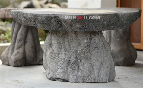 Gergaji Batu Alam meja kursi batu candi alam ornamen munthu