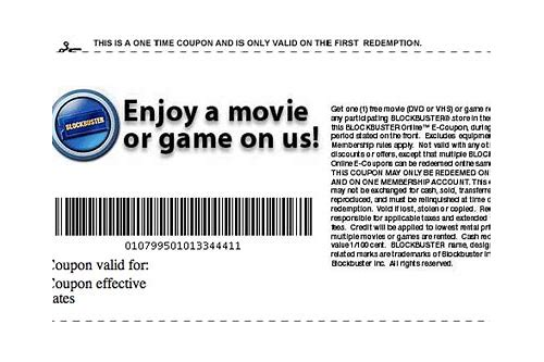 blockbuster coupon codes
