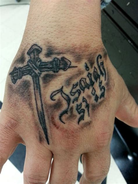 tattoo cross hand 98 best images about christian tattoos on