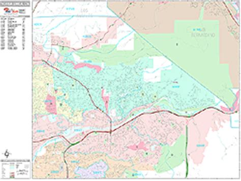 zip code map yorba linda ca yorba linda california wall map premium style by marketmaps