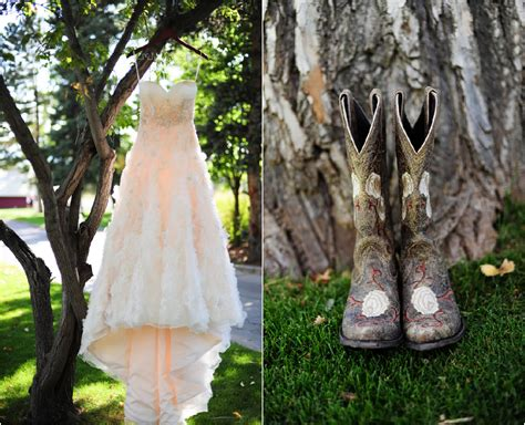 country style wedding dresses with cowboy boots colorado rustic wedding at raccoon creek rustic wedding chic