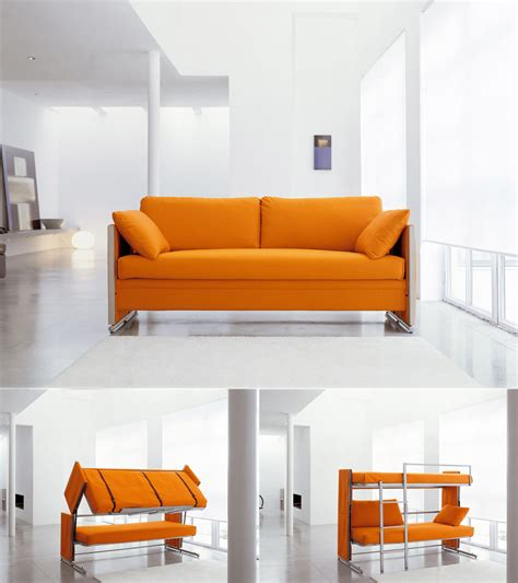 Sofa To Bunk Bed Innovative Multifunctional Sofa By Designer Giulio Manzoni Transforms Into A Bunk Bed In Only 12