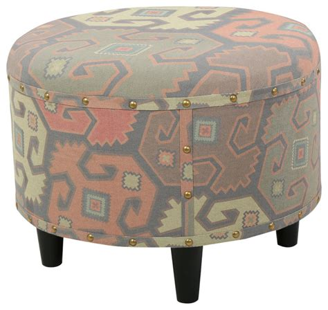 printed ottomans hedley contemporary printed fabric ottoman contemporary footstools and ottomans by