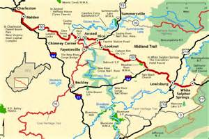 Midland Trail Tire Va Midland Trail Map America S Byways