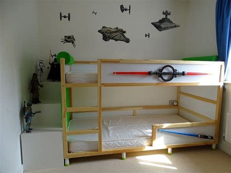bunk bed hacks for my wars kura bunk bed hack i found it to be far cheaper to purchase two ikea kura
