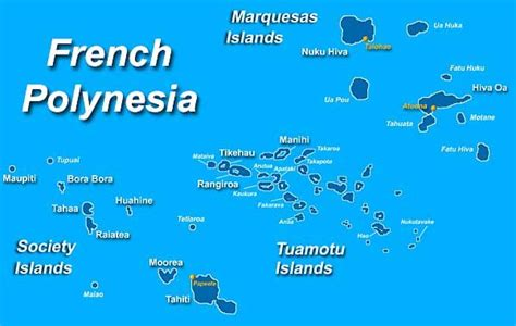 Tahiti Map Of World by Map Of French Polynesia Society Islands Bora Bora