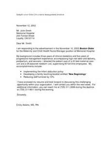professional nursing cover letter 34 wining cover letter sles for nursing