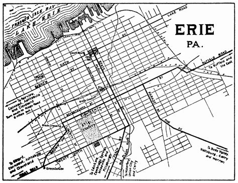 printable map erie pa pennsylvania city maps at americanroads com